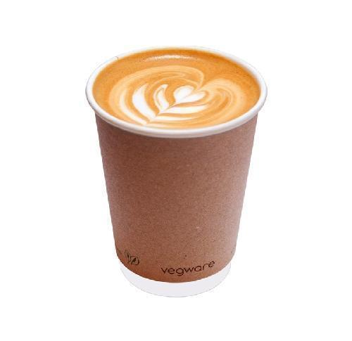 8oz Double Wall Compostable Paper Cup MOQ 1000